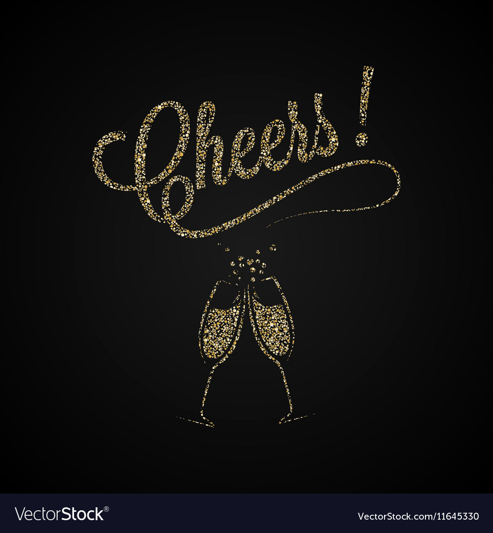 Cheers Vintage Gold Champagne Background