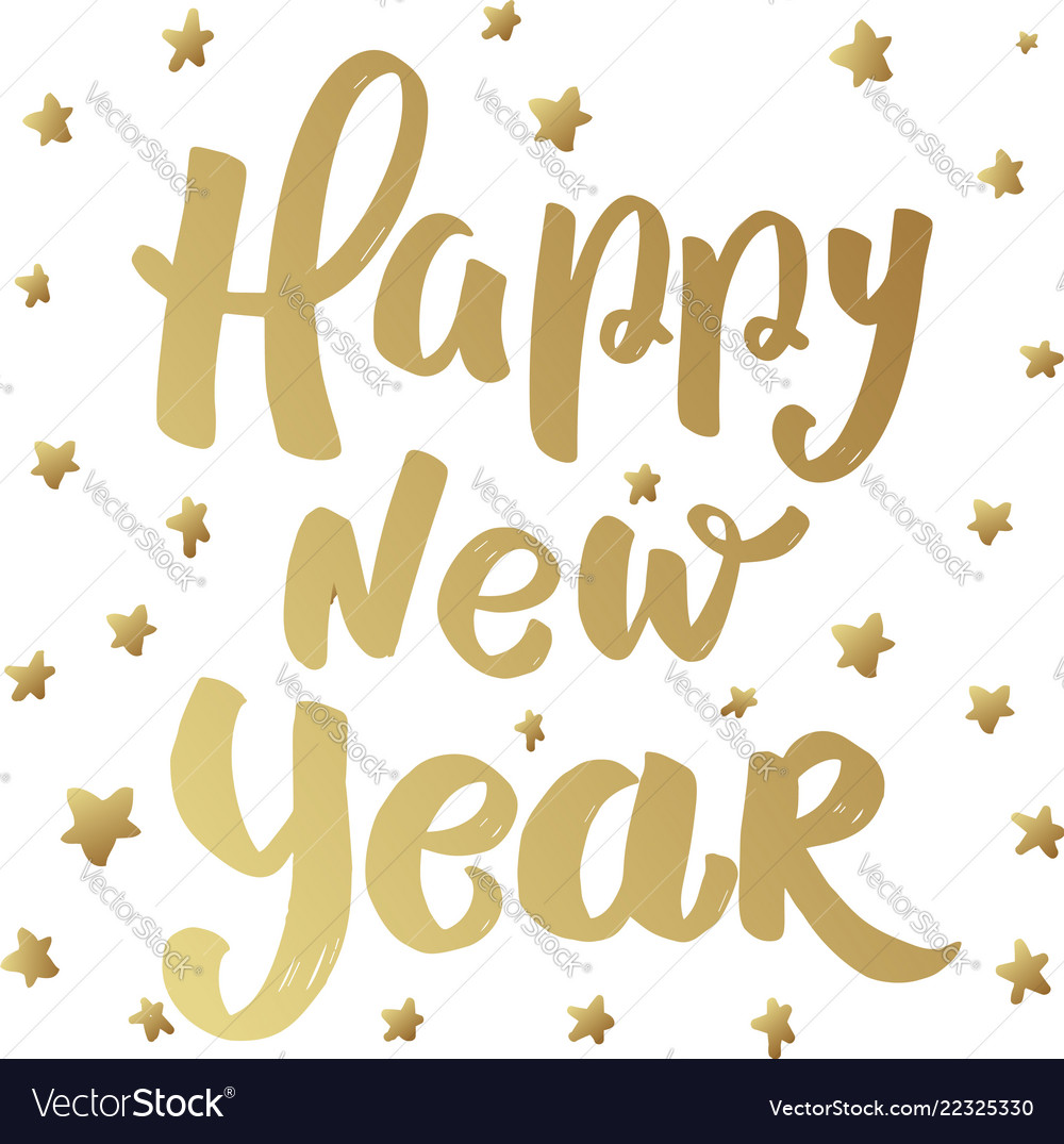Happy New Year Lettering Design 4