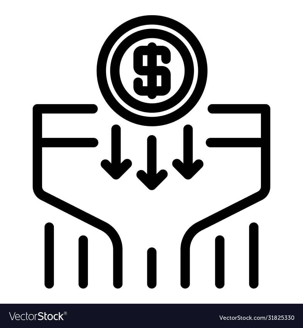 Marketing budget icon outline style