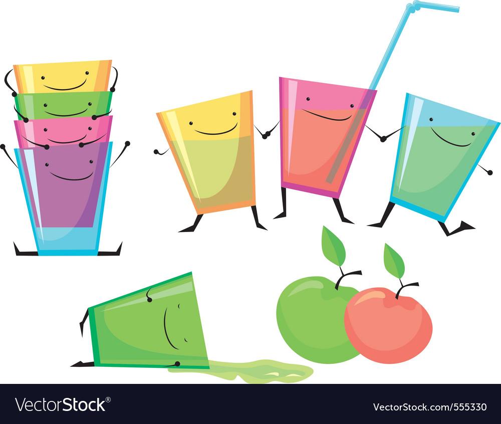 Plastic cups vector image