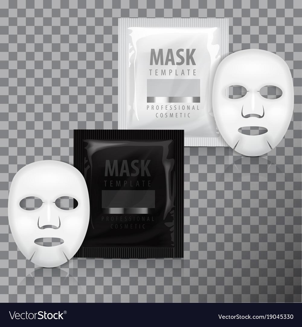 Realistic facial sheet mask and sachet