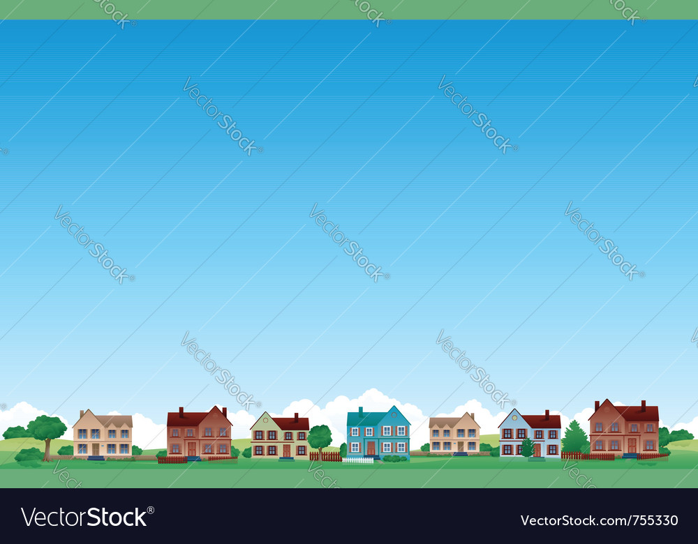 Suburb city background vector image