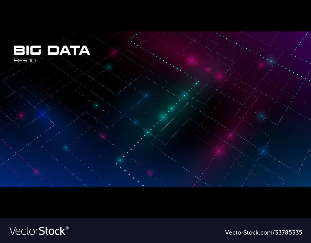 Big data visualization futuristic background