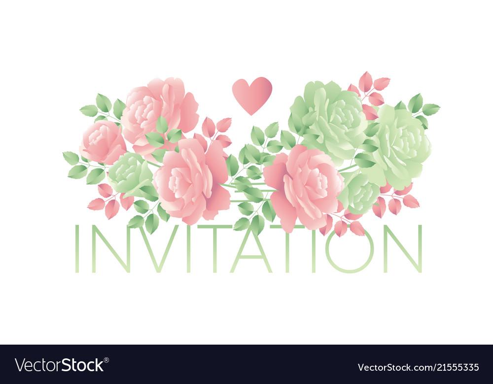 Decorative tender rose flower motif