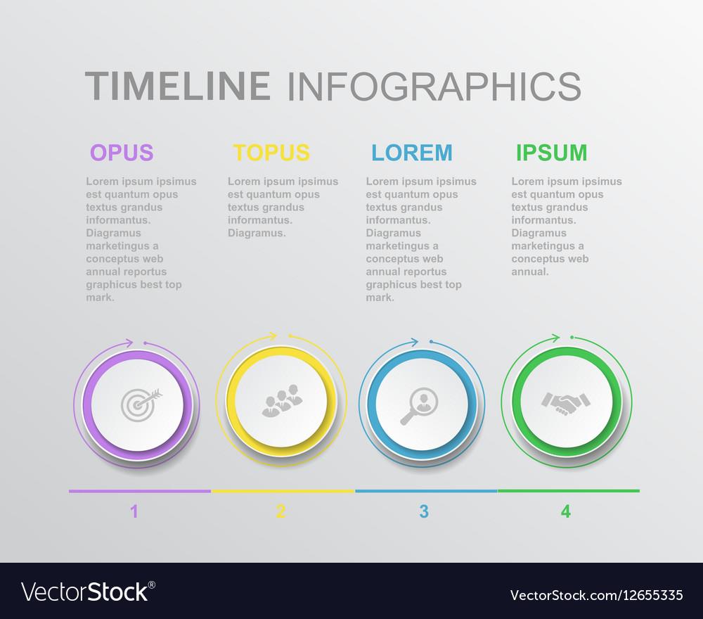 Elements timeline infographic diagram