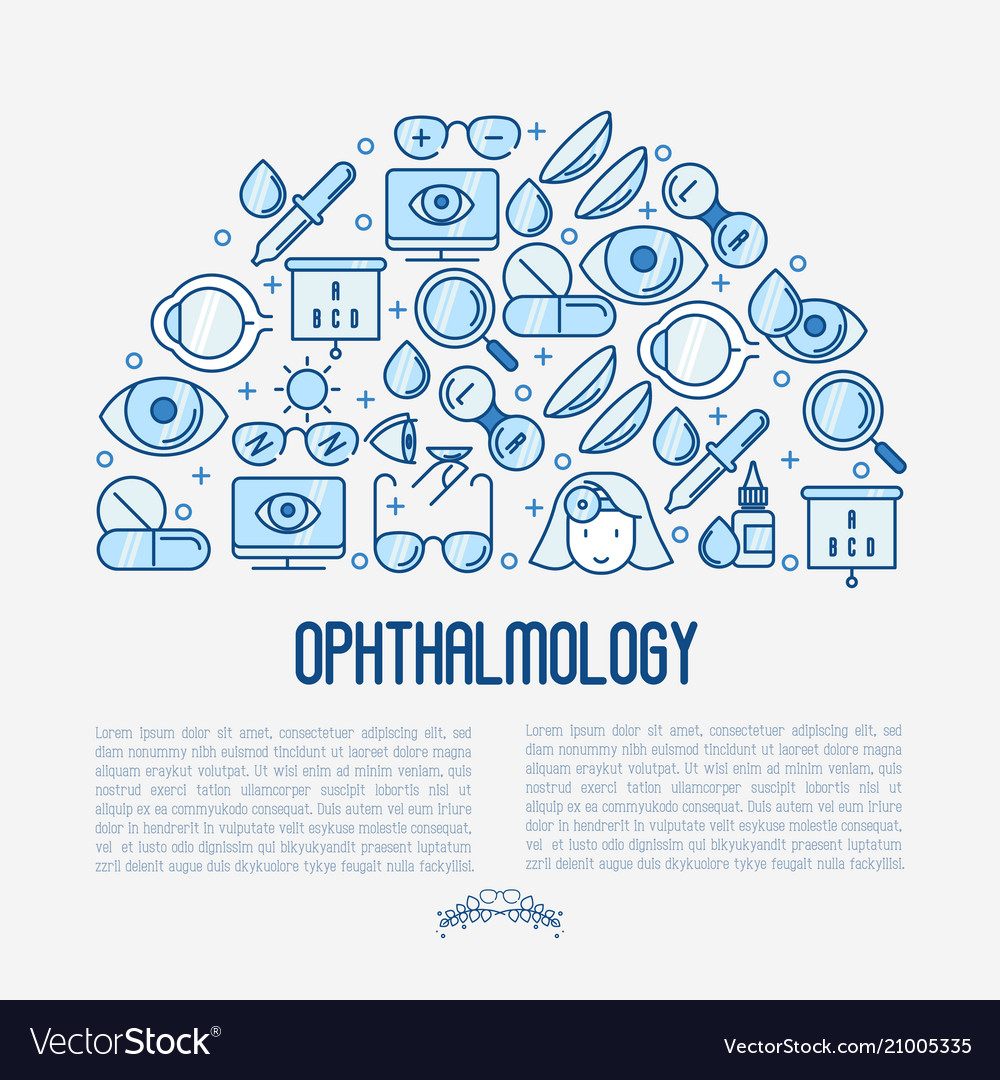 Ophthalmology concept with vision care