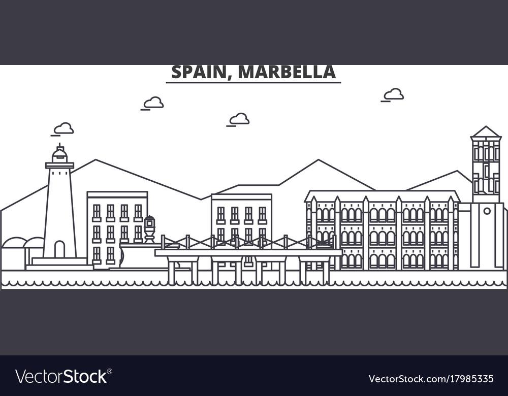 Spain marbella architecture line skyline