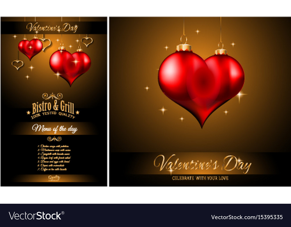 valentines day restaurant menu template background