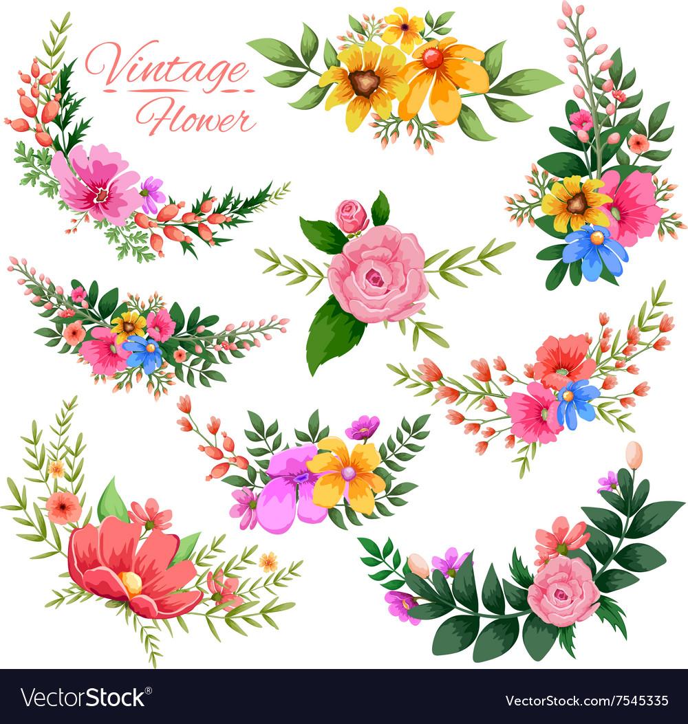 watercolor vintage floral frame royalty free vector image