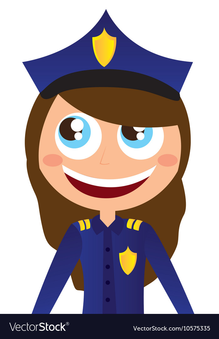 Woman agent police character avatar