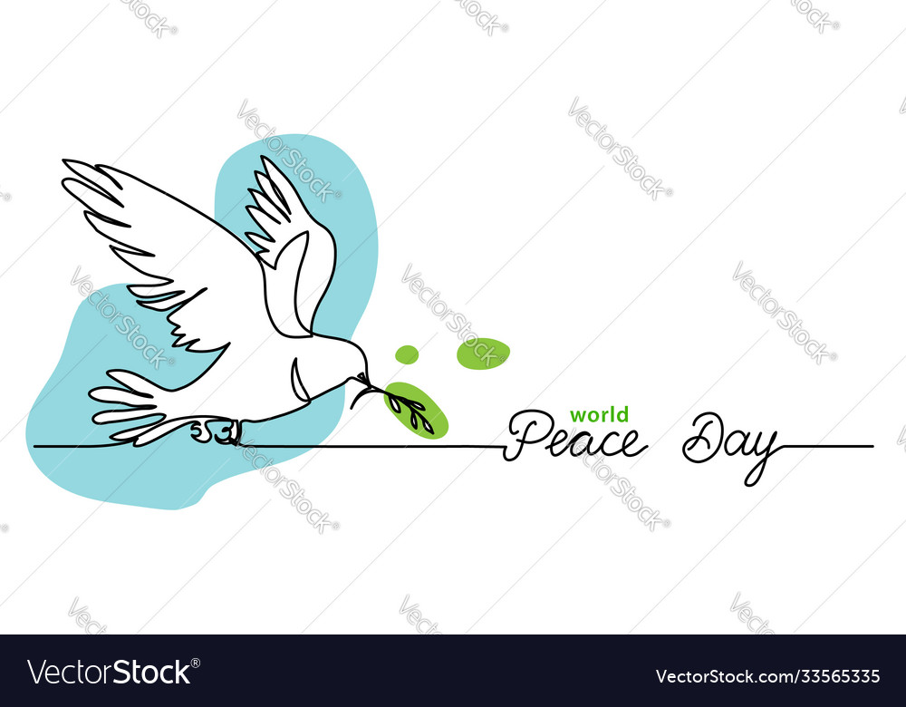 World peace day minimal background web banner
