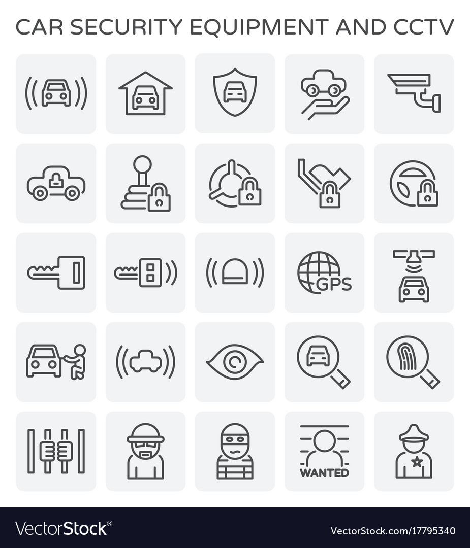 Car security icon