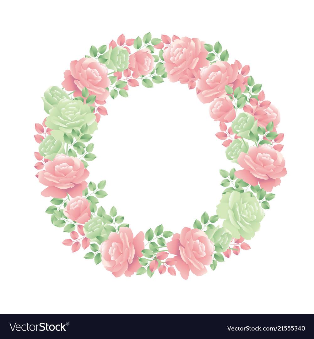 Decorative tender rose flower wreath