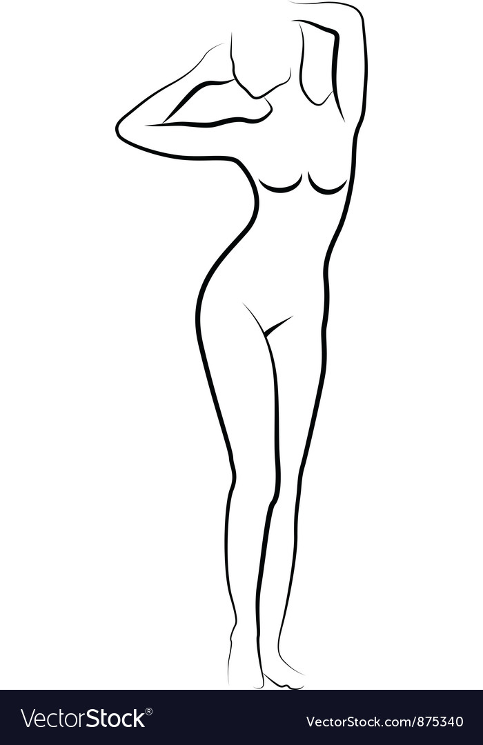 Sketch of nude woman