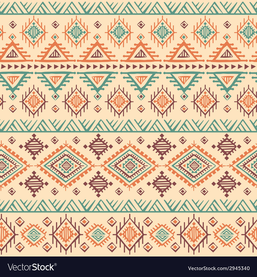 Tribal vintage ethnic seamless vector image