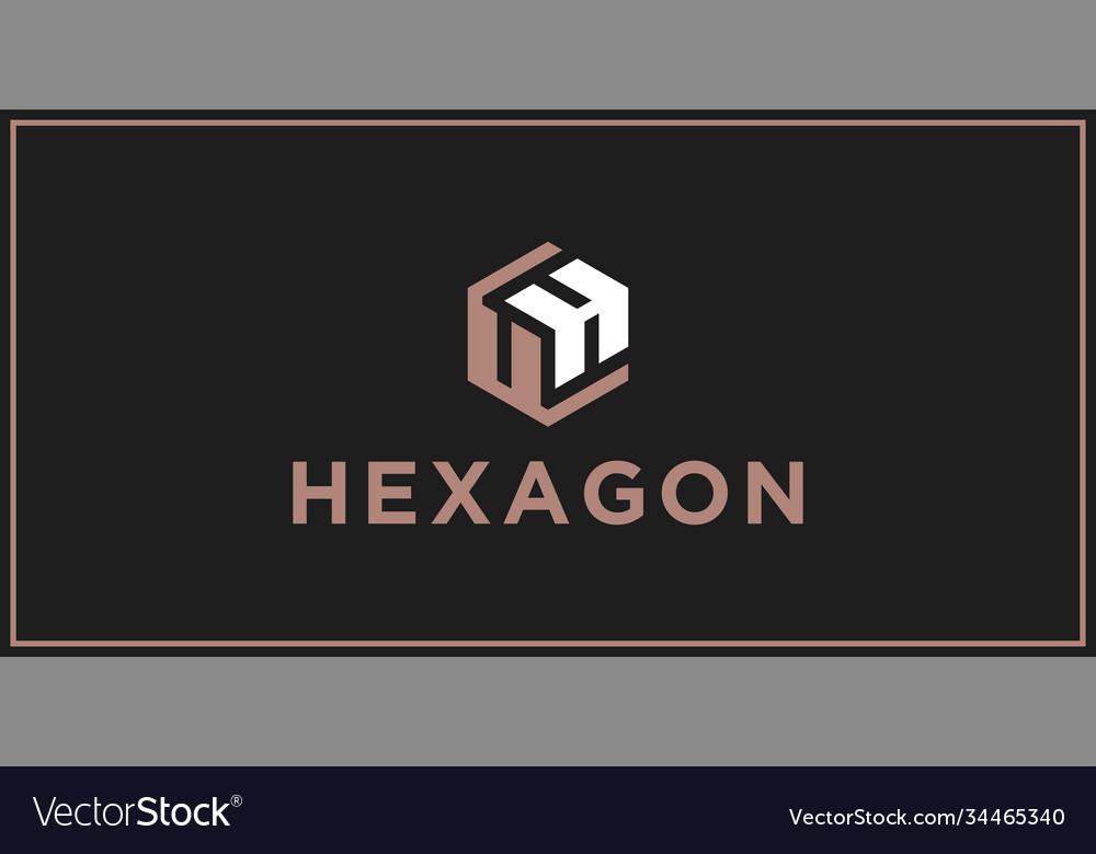 Uh hexagon logo design inspiration