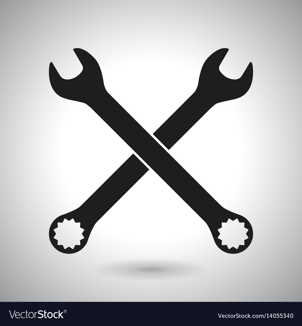 Wrench black outline icon