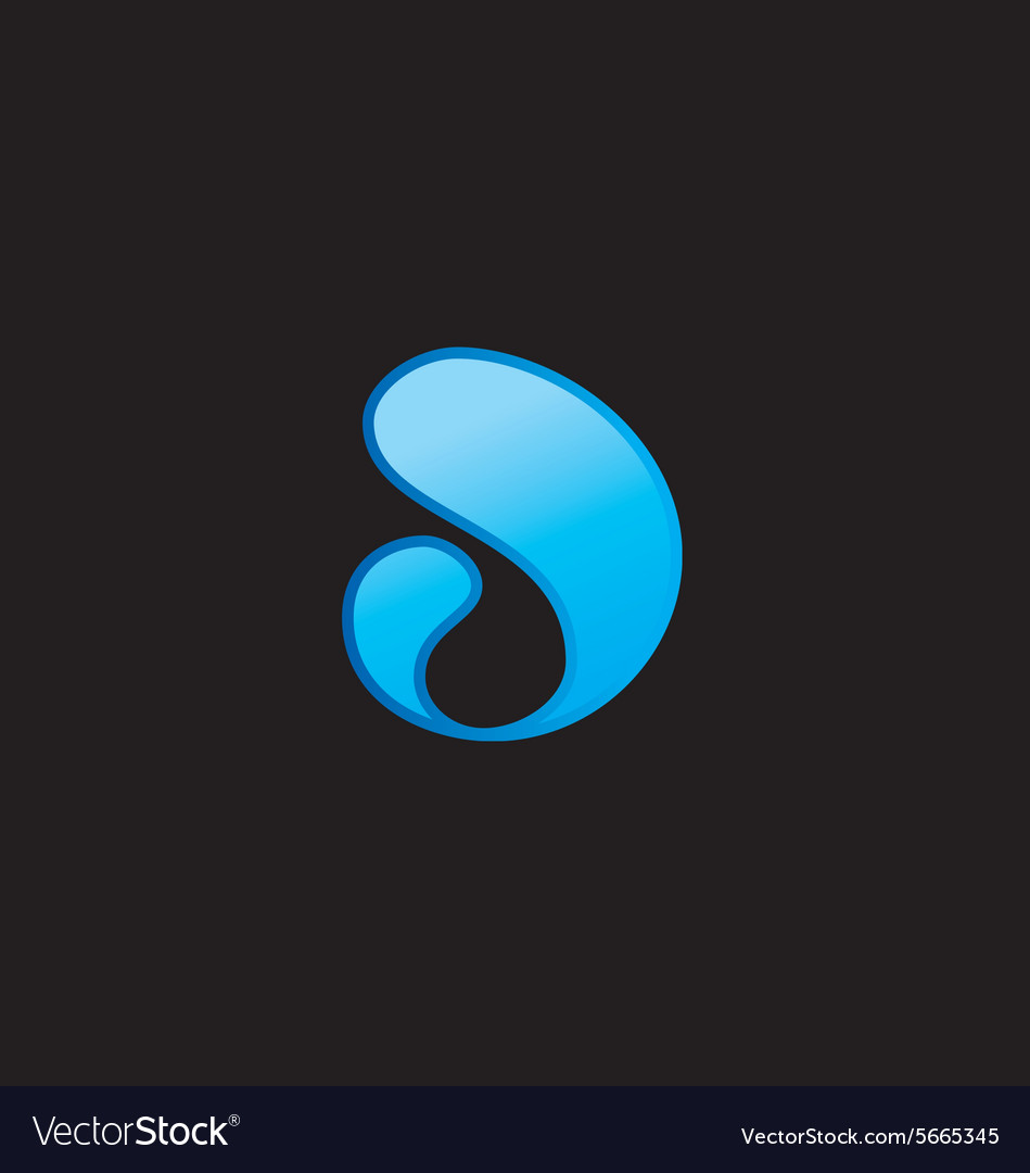 Abstract swosh liquid blue logo