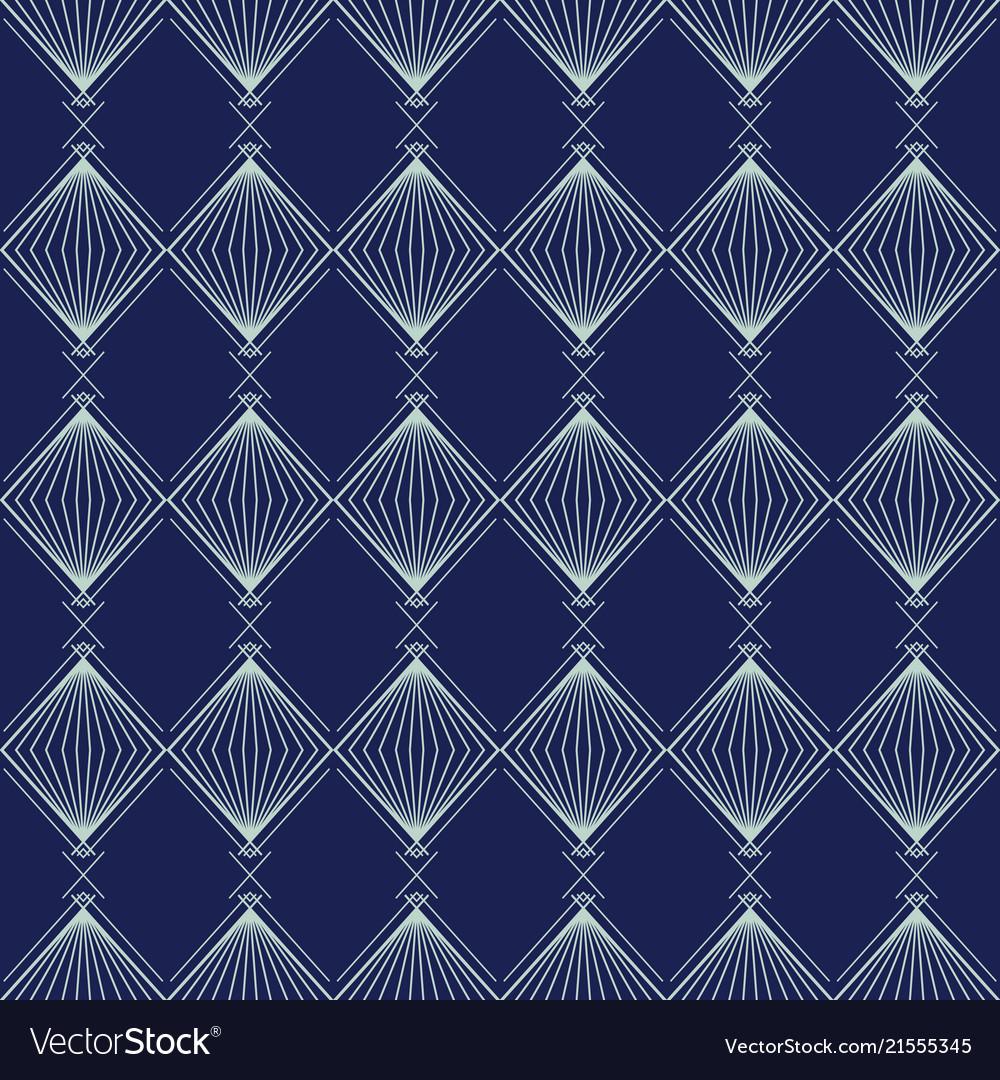 Art deco seamless pattern geometrical background