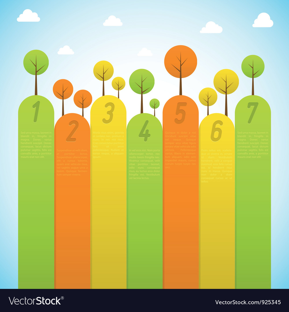 Banners with trees vector image