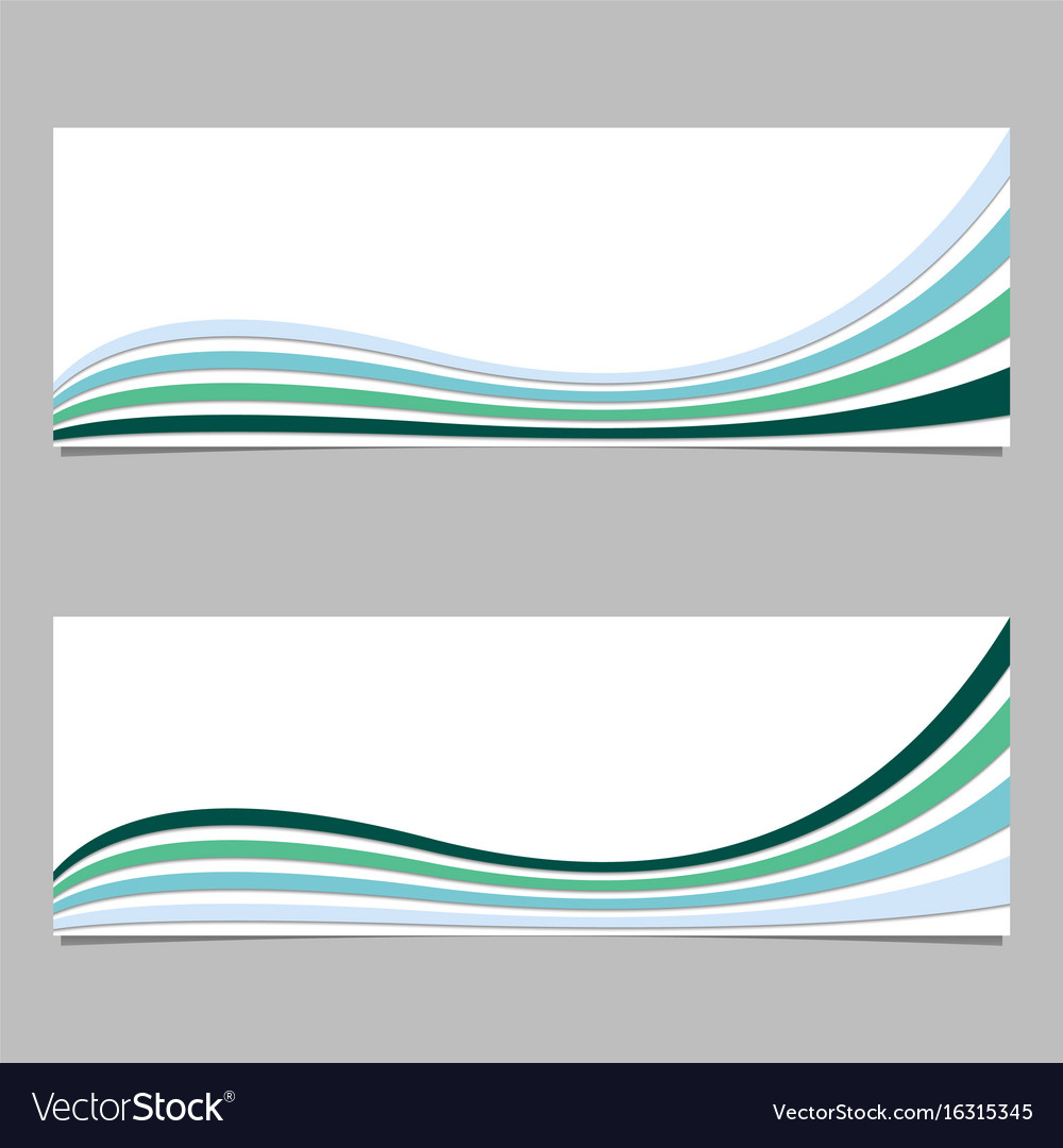 colorful banner background from wave stripes vector image