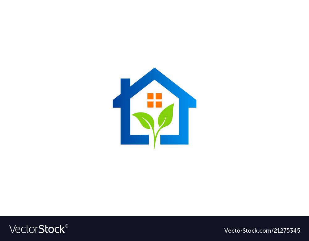 Green leaf home garden logo