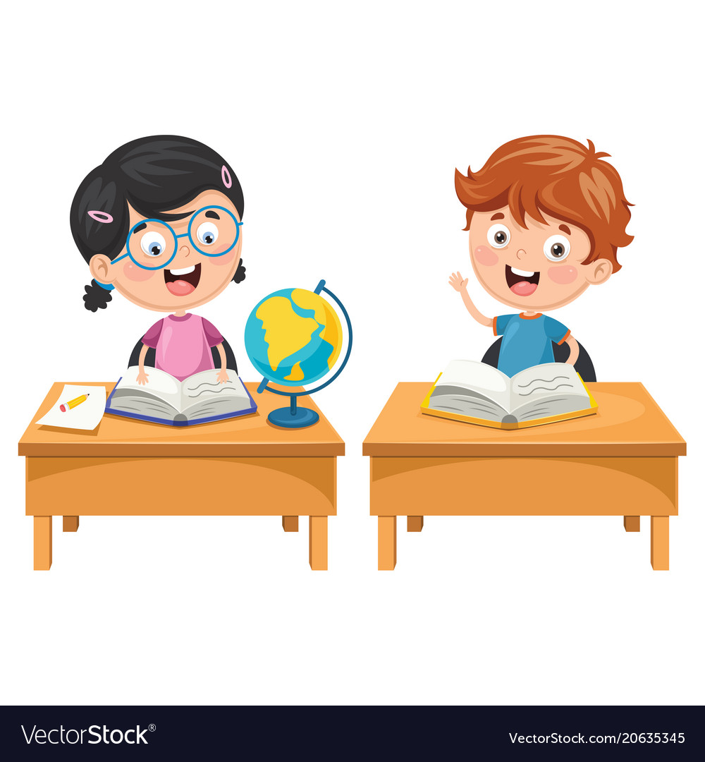 kids studying royalty free vector image vectorstock