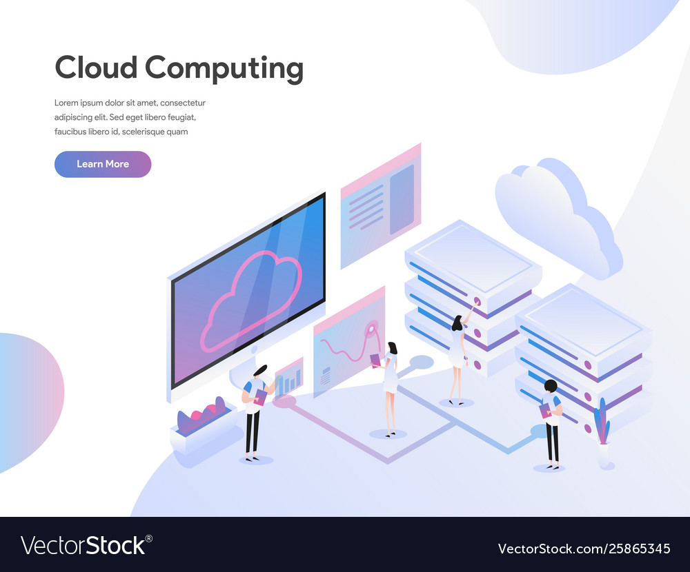 Landing page template cloud computing