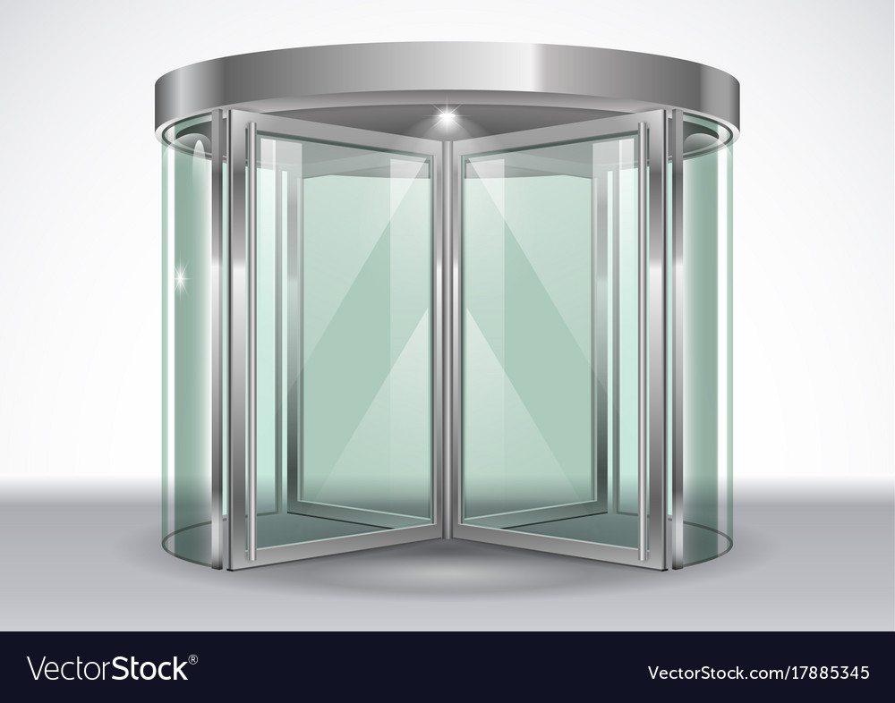 Revolving door shopping center vector image & Revolving door shopping center Royalty Free Vector Image
