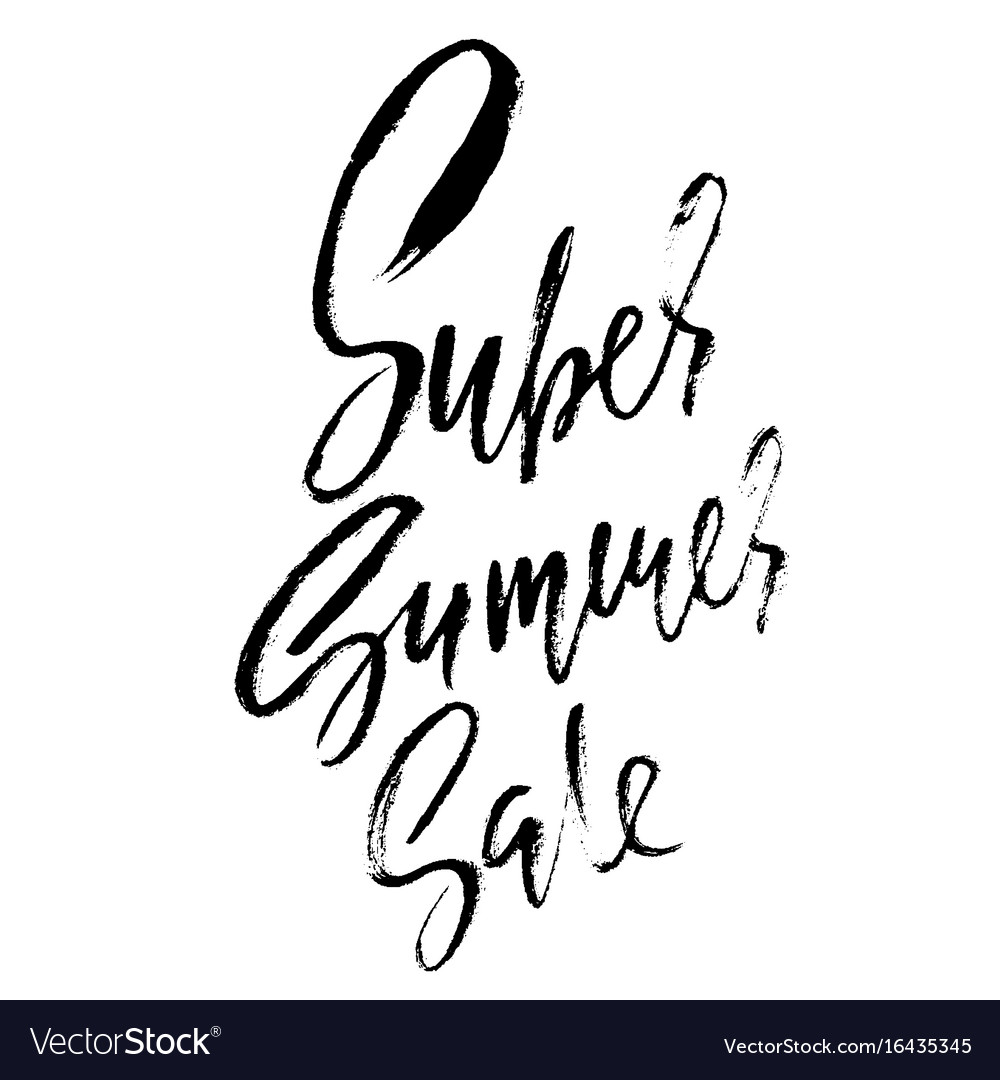 Summer sale inscription handwritten modern vector image