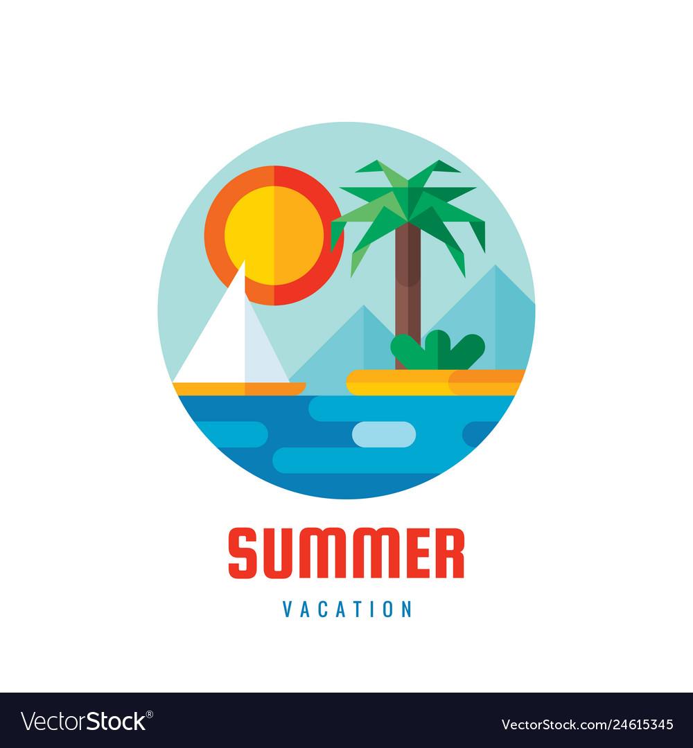 Summer vacation - logo template creative