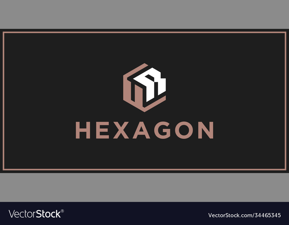 Ur hexagon logo design inspiration