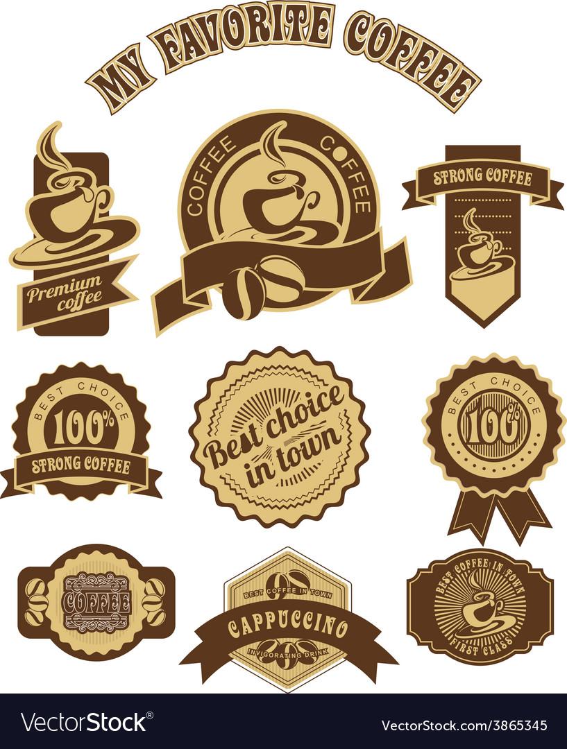 Vintage retro coffee badges