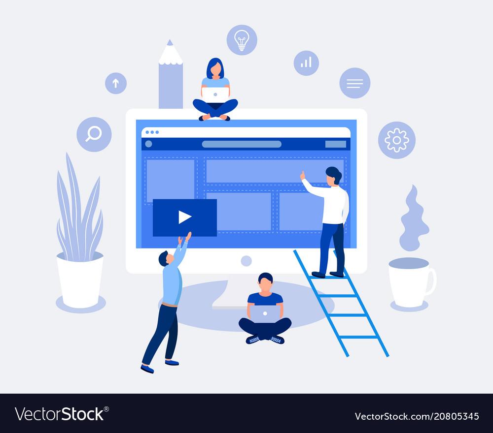 Web development design concept