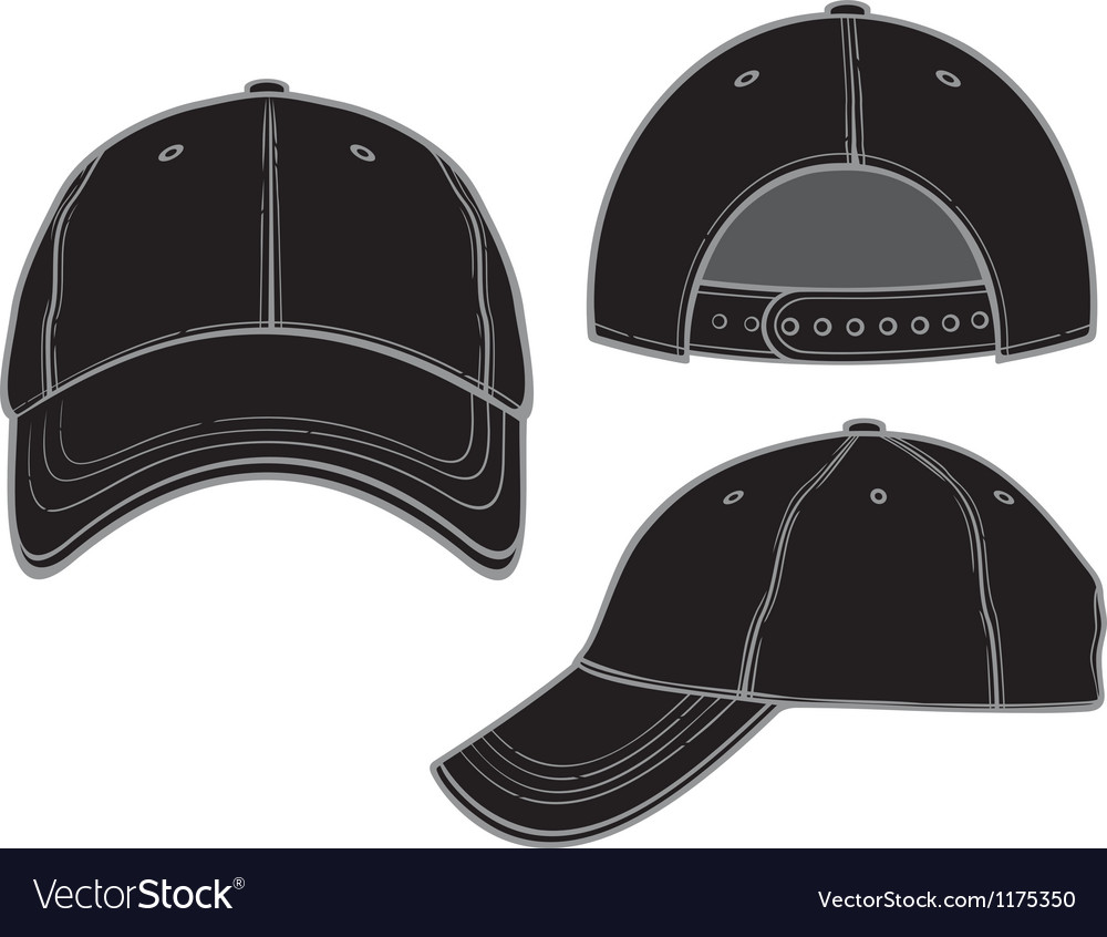 black baseball cap royalty free vector image vectorstock rh vectorstock com cap victor marinetraffic cap vector template download