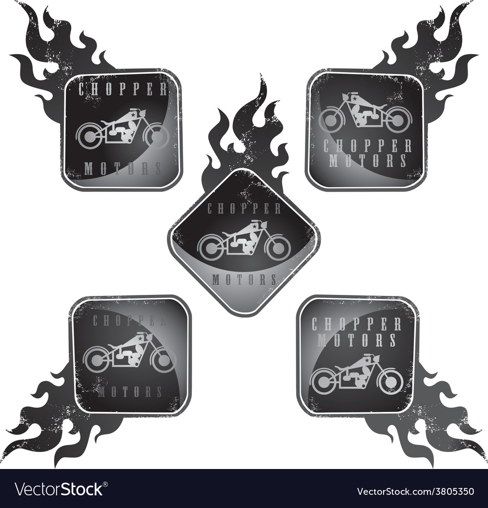 Chopper Metal Sticker