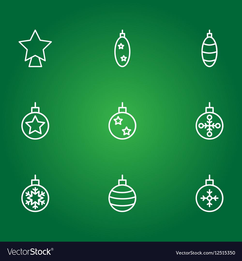 Christmas balls icons