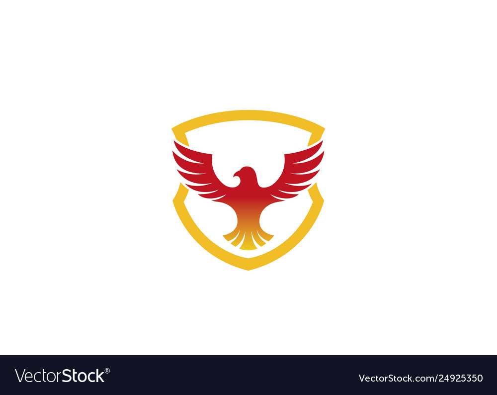 Creative red eagle shield logo