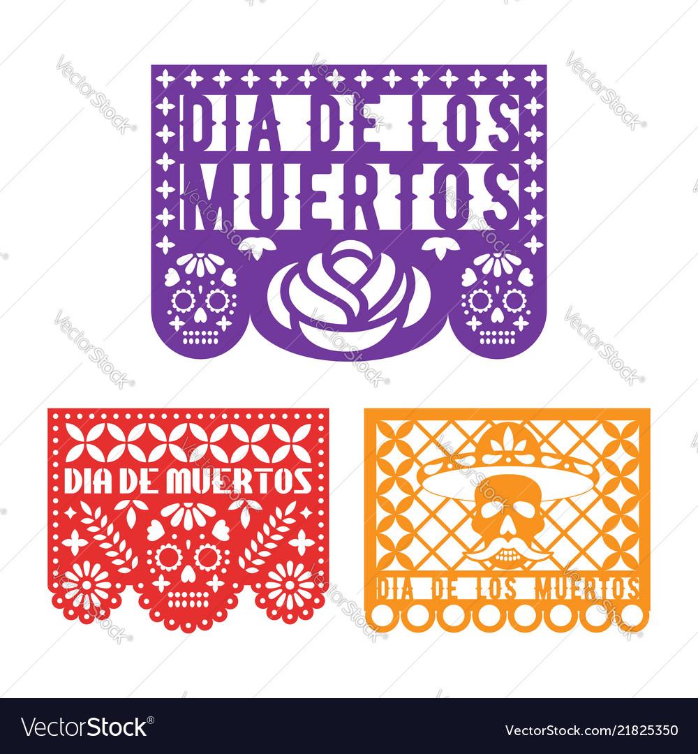 Papel picado mexican paper decoration for dia de
