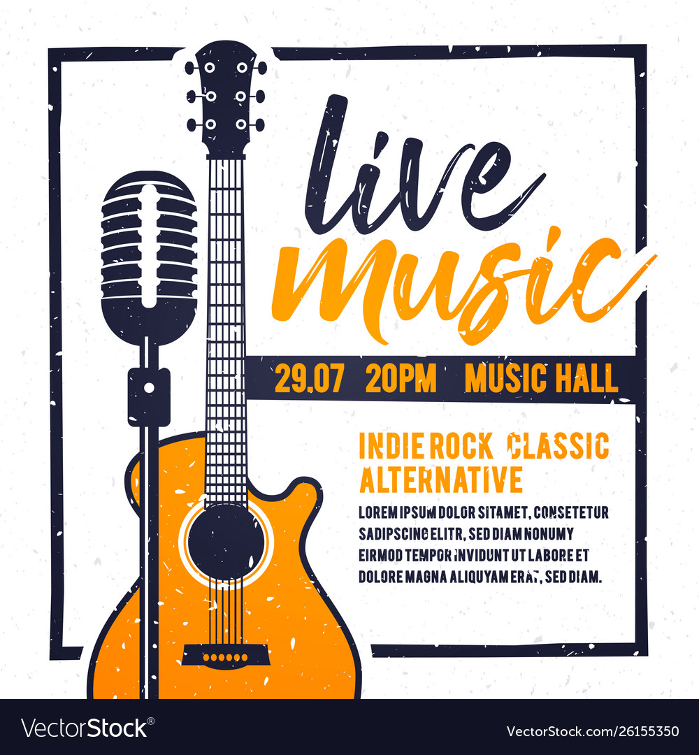Poster for live music festival in retro style