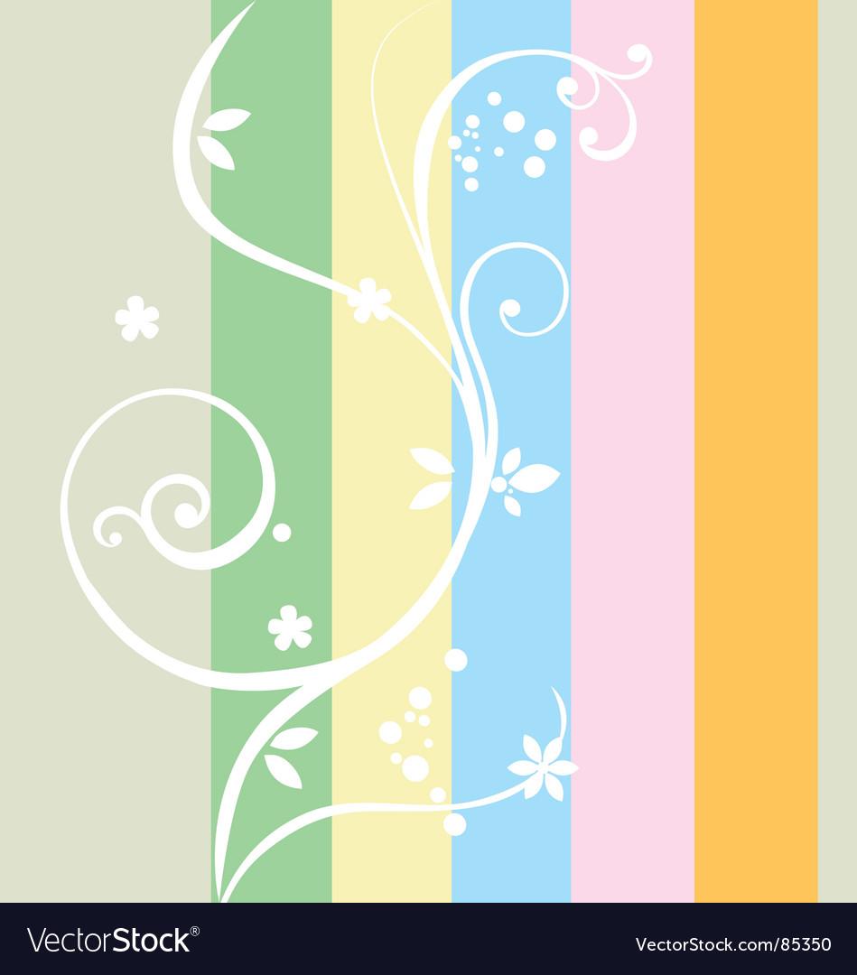 Rainbow composition vector image