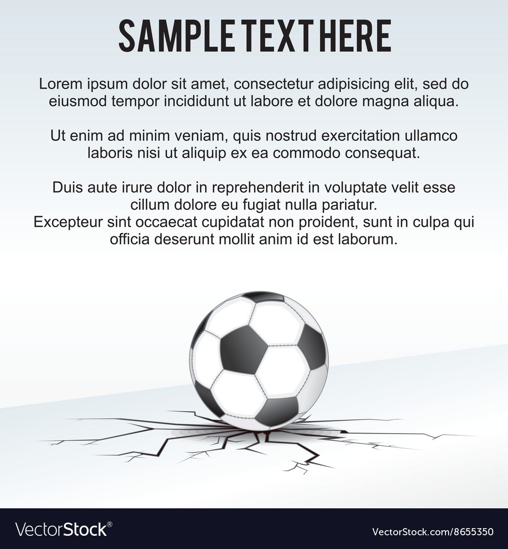 Soccer Ball Background vector image