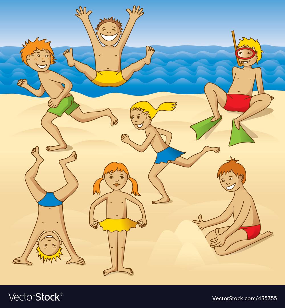 Картинки дети купаются загорают