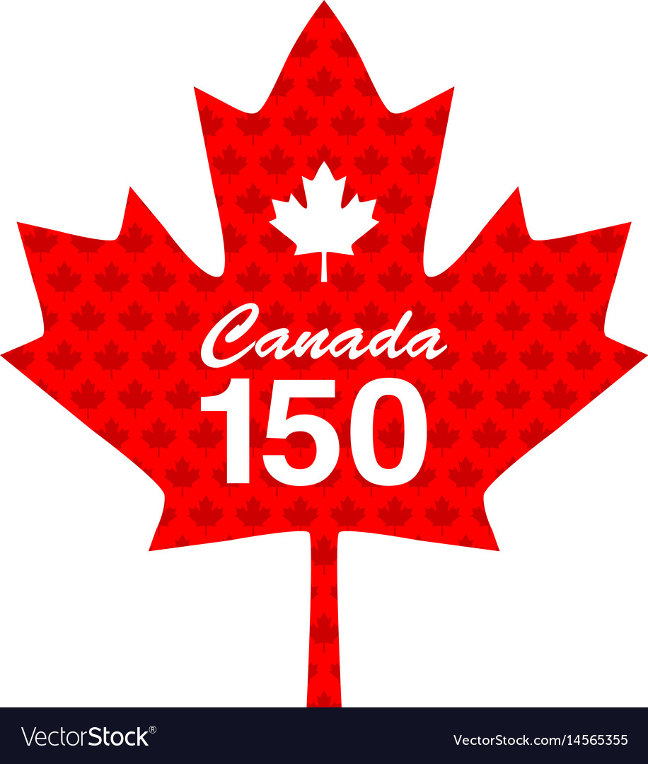 Canadian maple 150 years vector image