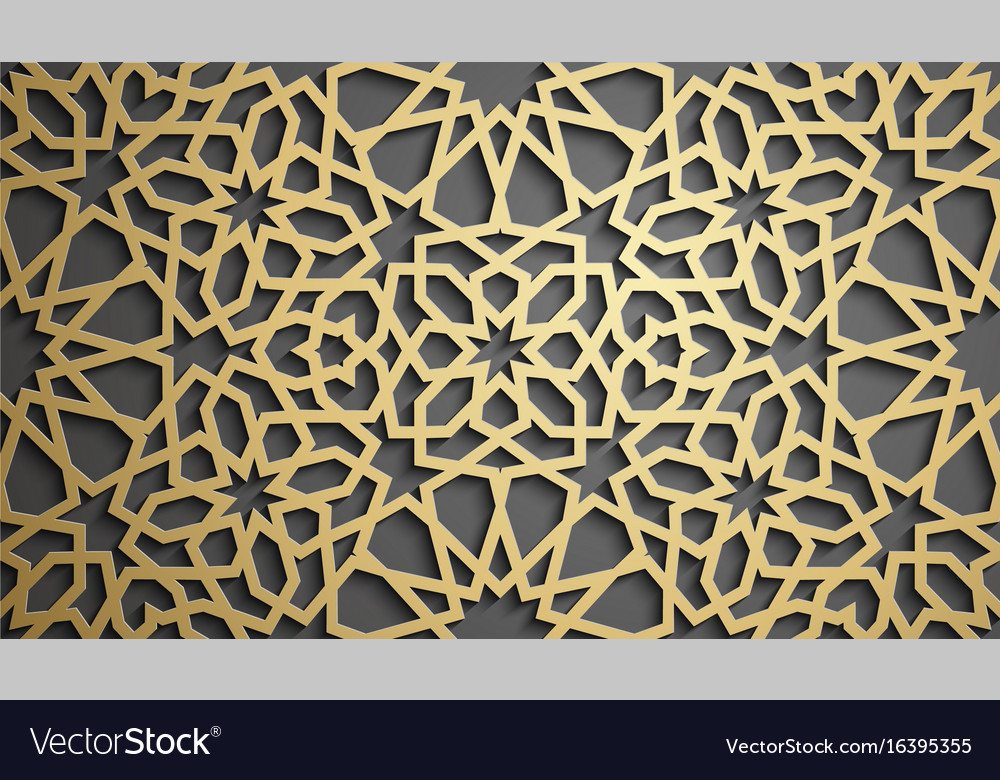 Islamic ornament persian motiff 3d
