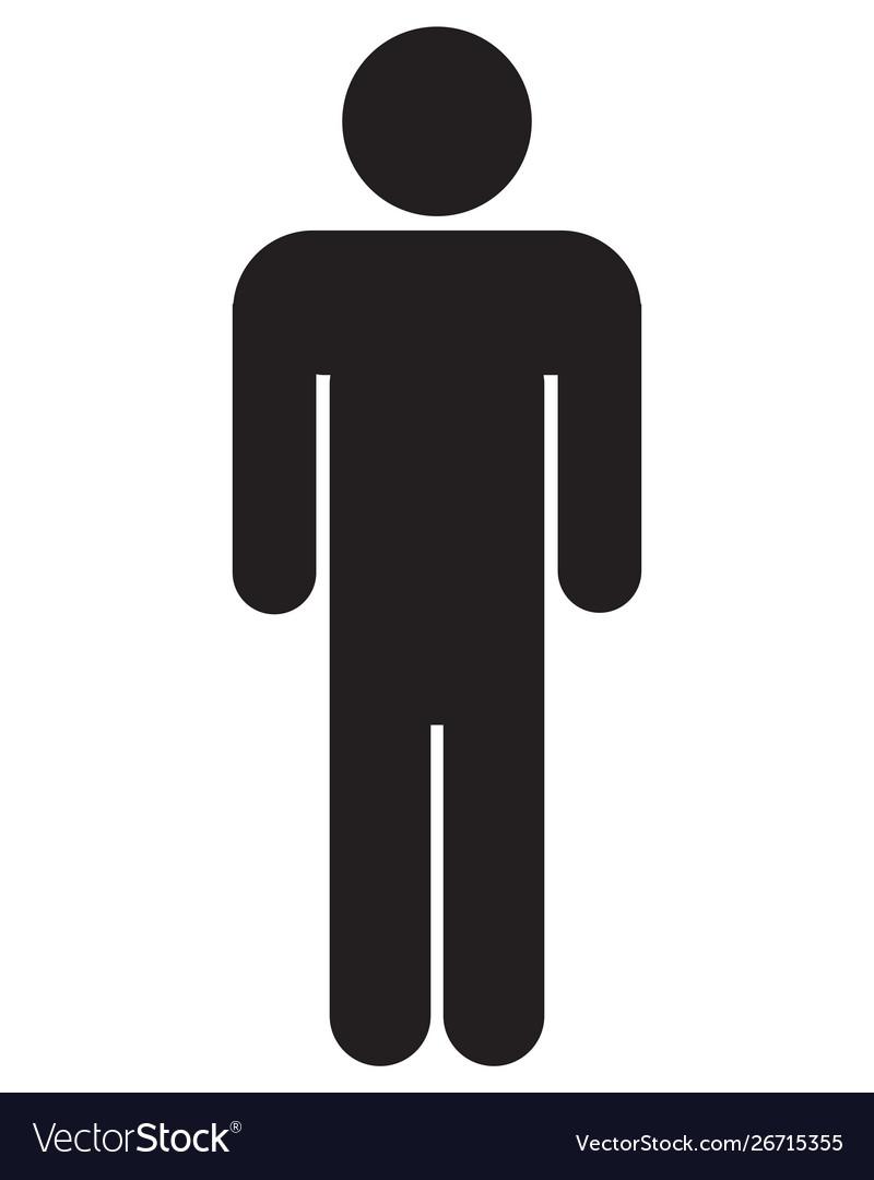 male bathroom icon royalty free vector image - vectorstock  vectorstock