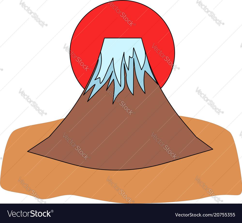 Mount fuji icon vector image