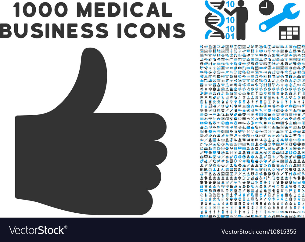 Thumb Up Icon with 1000 Medical Business