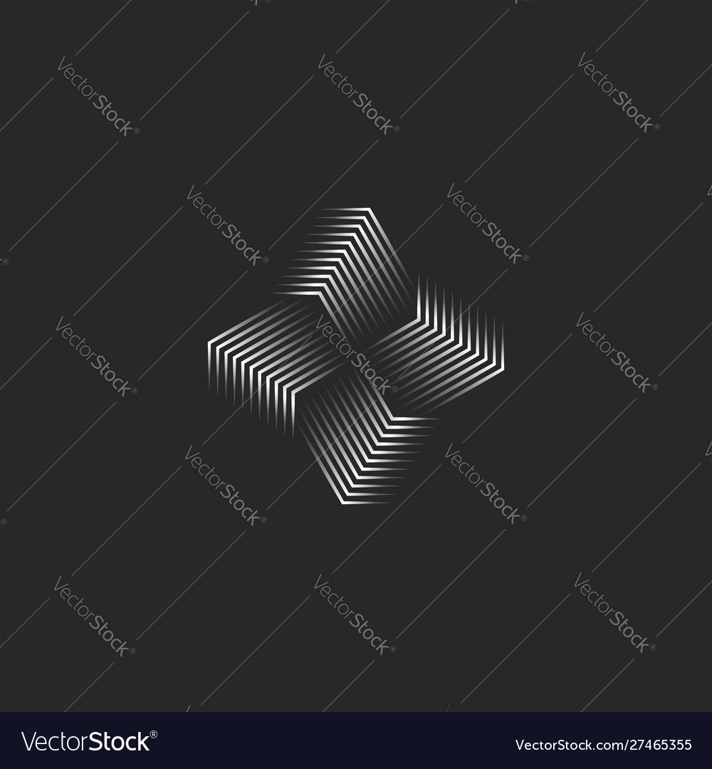 Windmill logo creative 3d infinity shape black