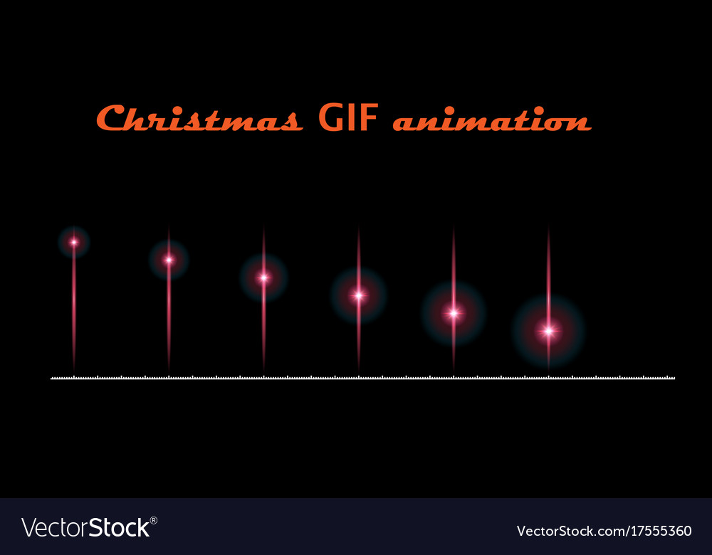 a set of create christmas animations moving flash vector image